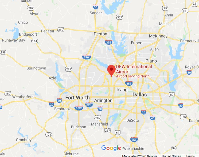 Map of Fort Worth & Dallas